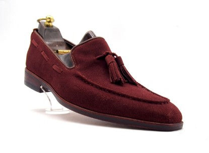 Dark Red, Suede
