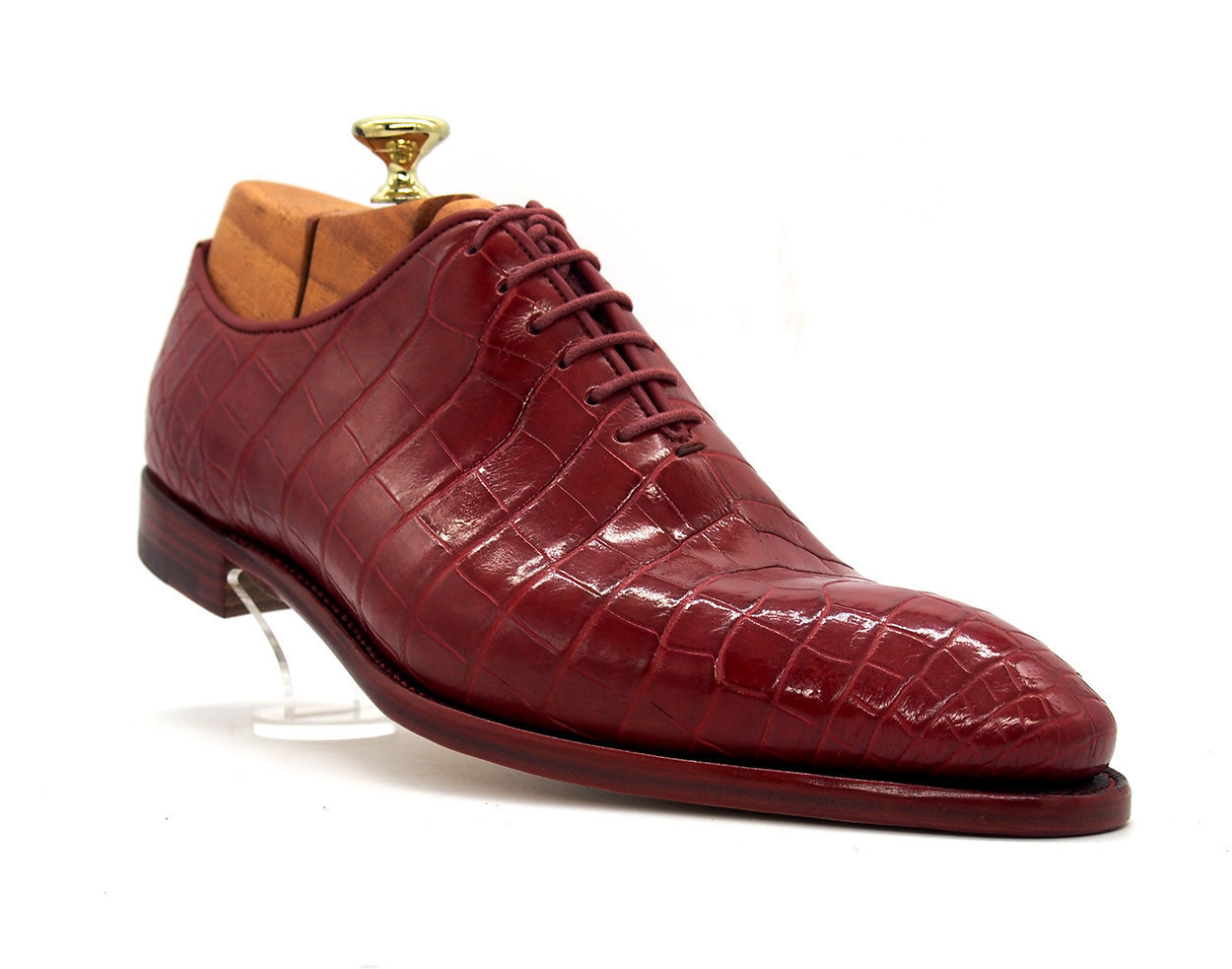 Red, Crocodile Leather