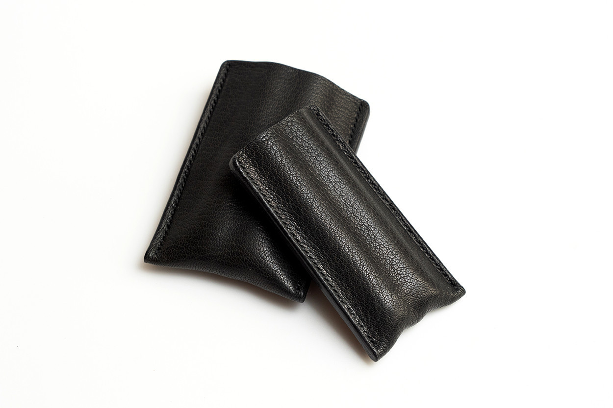 Picture of étui à cigares en cuir 1/5 noir