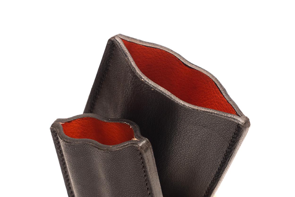 Picture of étui à cigares en cuir 1/1 noir fraisé