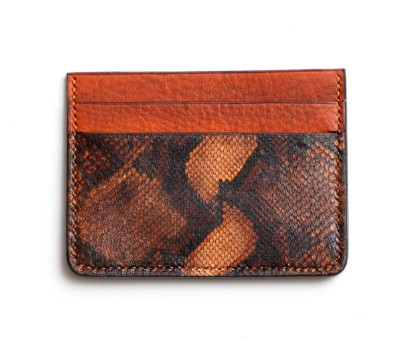 Picture of Orange Leather Credit Card Wallet 1/1