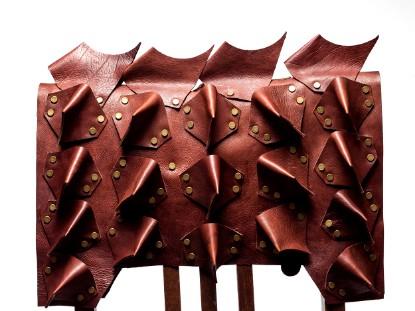 Imagen de Leather Dog Armor Brown Calf