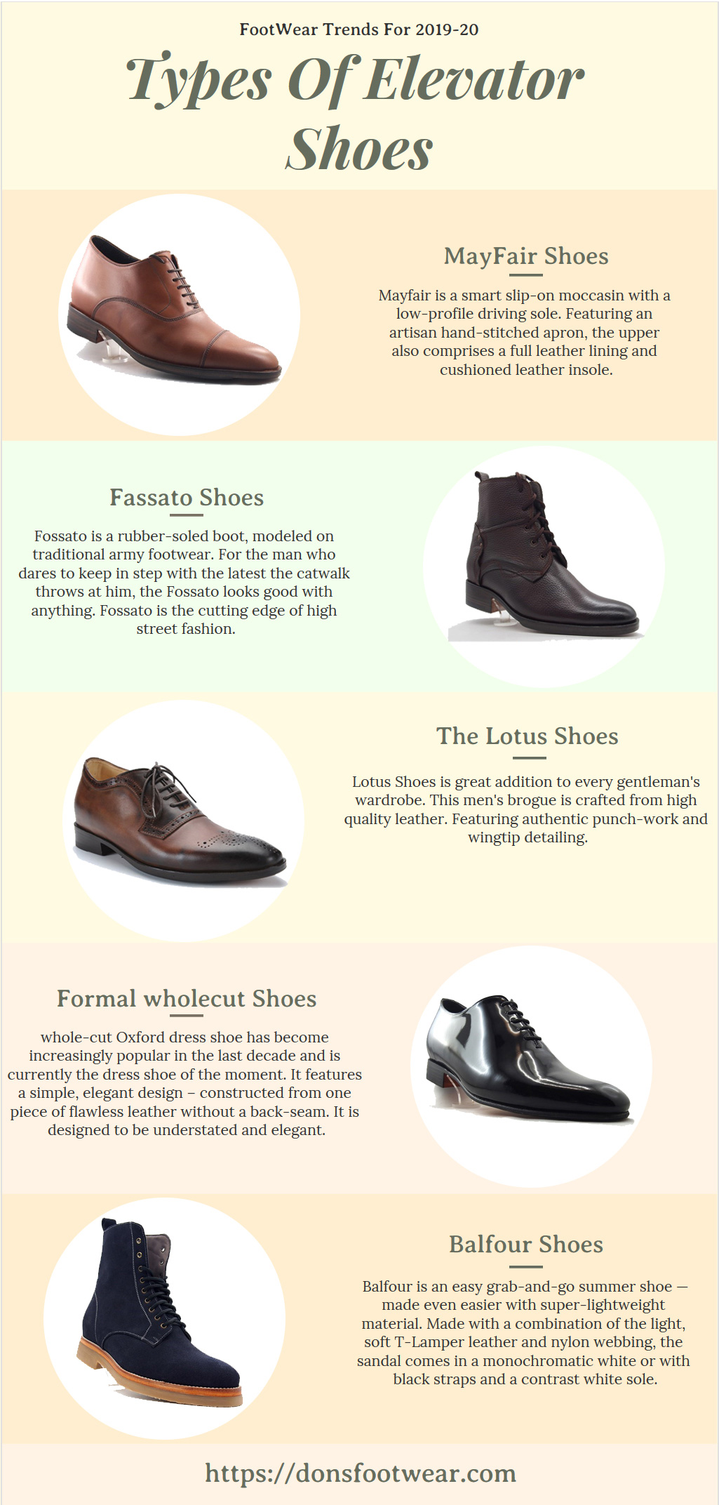 Types of Elevator Shoes